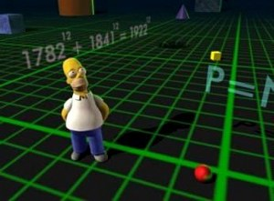 3D Homer in Simpsons